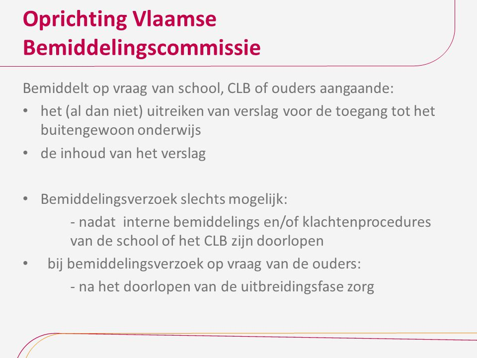 Oprichting Vlaamse Bemiddelingscommissie