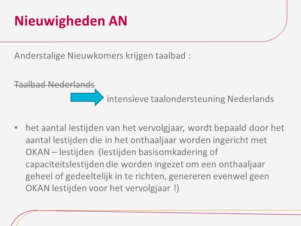 Nieuwigheden AN Anderstalige Nieuwkomers krijgen taalbad :