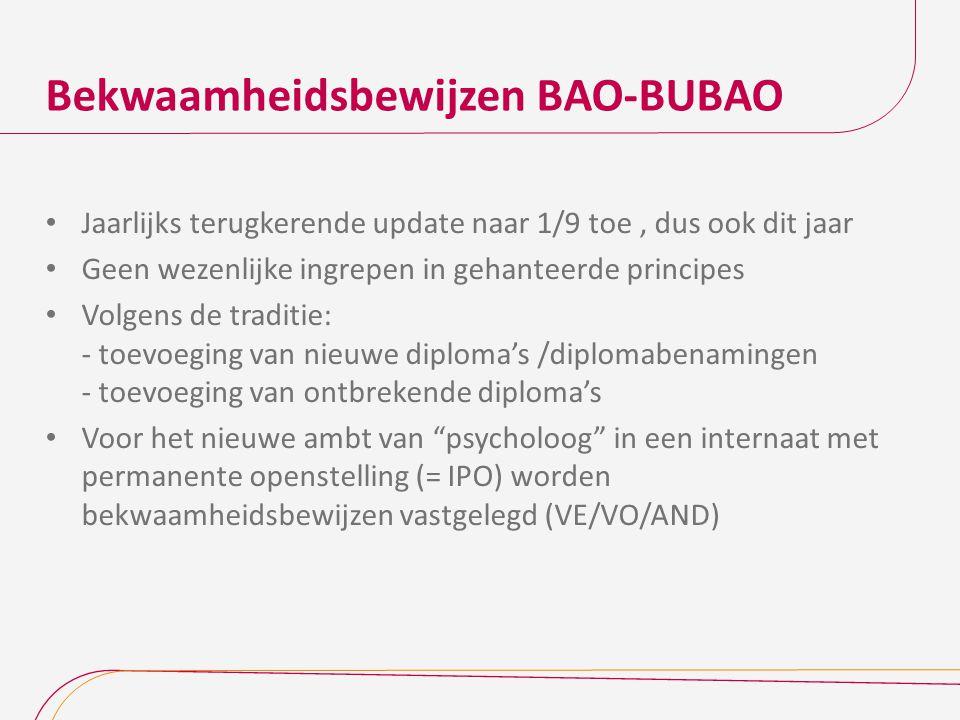 Bekwaamheidsbewijzen BAO-BUBAO