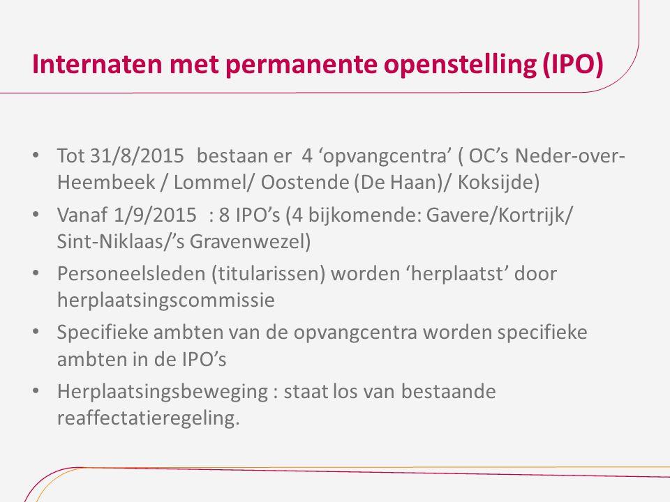 Internaten met permanente openstelling (IPO)