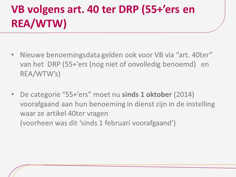 VB volgens art. 40 ter DRP (55+'ers en REA/WTW)