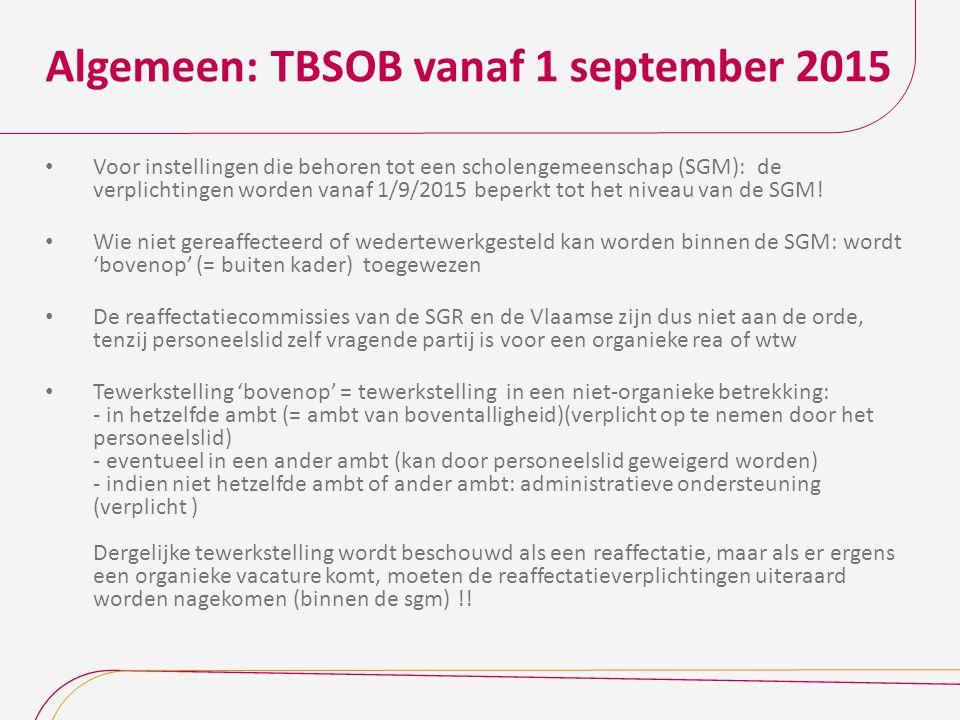 Algemeen: TBSOB vanaf 1 september 2015