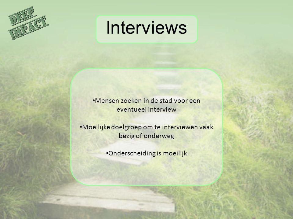 Interviews Mensen zoeken in de stad voor een eventueel interview