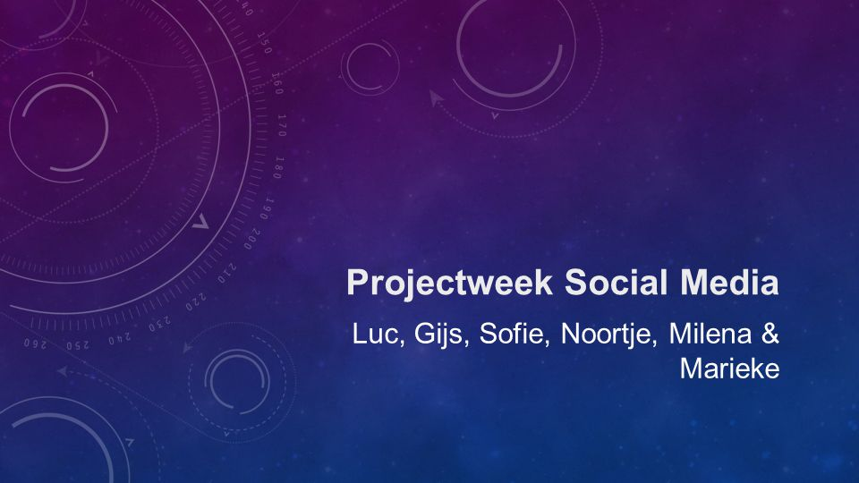 Projectweek Social Media