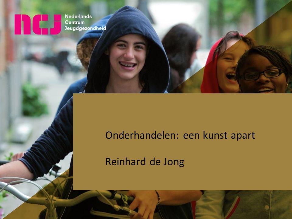 Onderhandelen: een kunst apart Reinhard de Jong