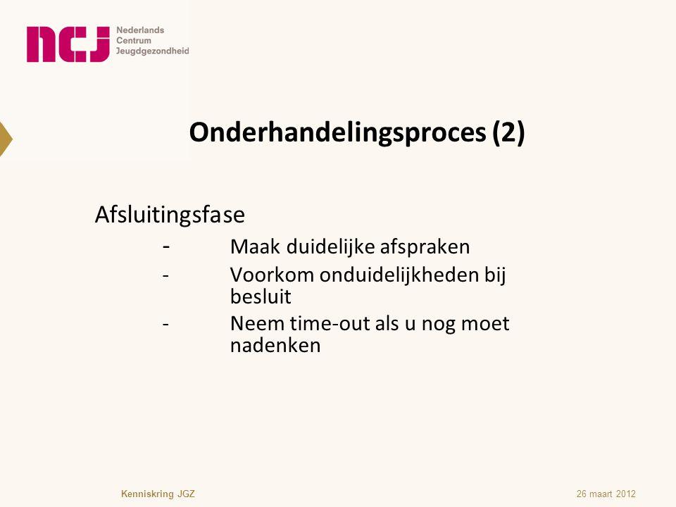 Onderhandelingsproces (2)