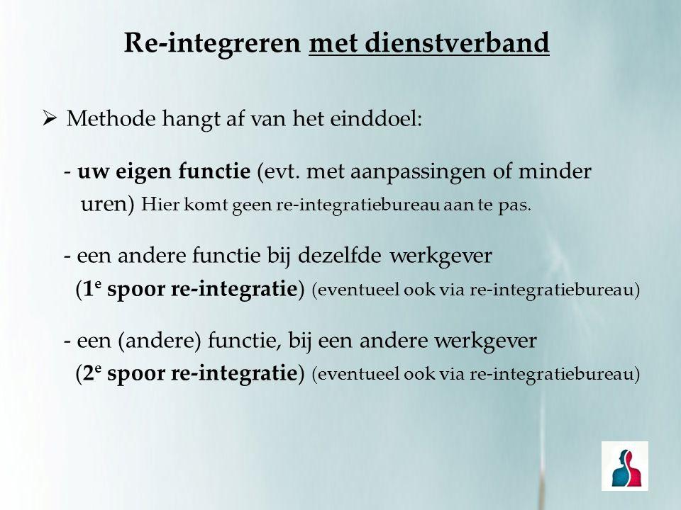 Re-integreren met dienstverband