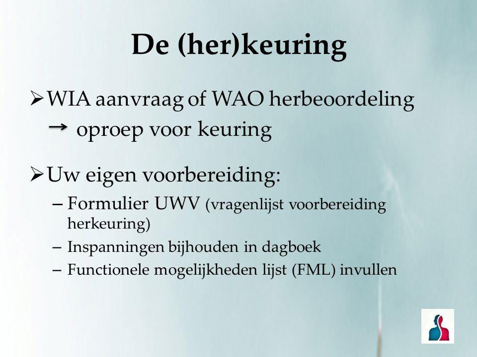 De (her)keuring WIA aanvraag of WAO herbeoordeling oproep voor keuring
