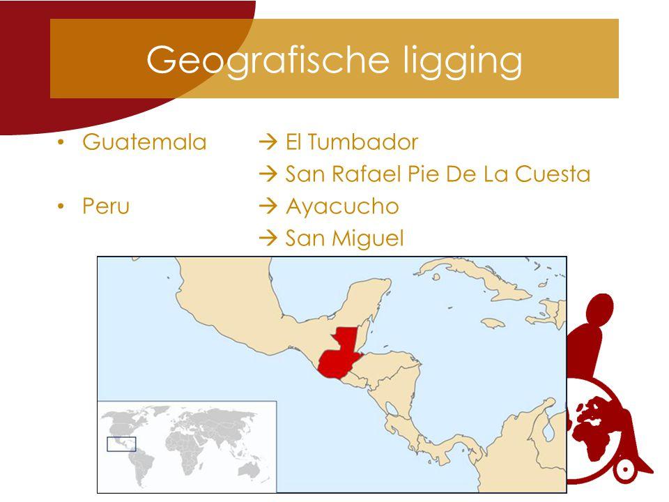 Geografische ligging Guatemala  El Tumbador