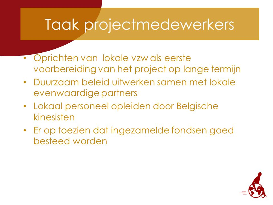 Taak projectmedewerkers
