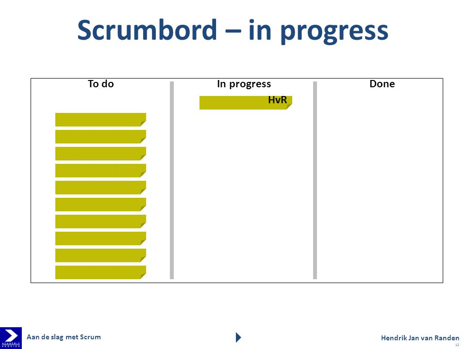 Scrumbord – in progress