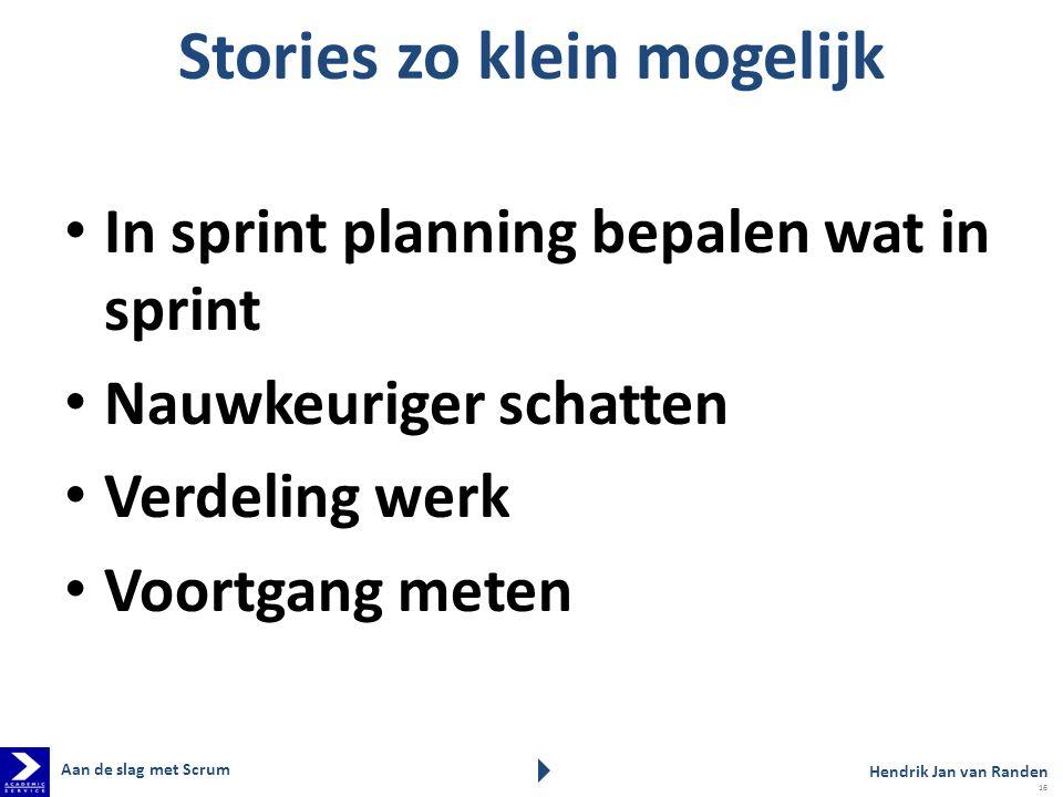 Stories zo klein mogelijk