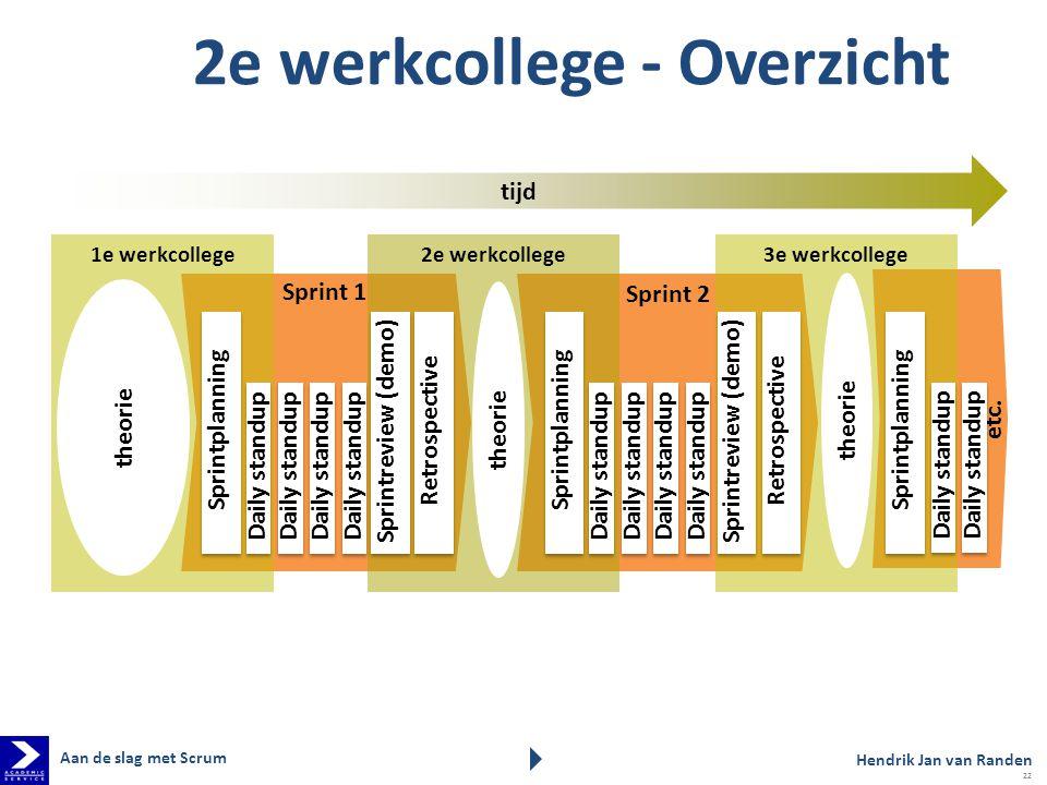 2e werkcollege - Overzicht