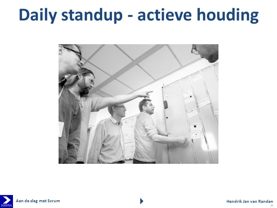 Daily standup - actieve houding