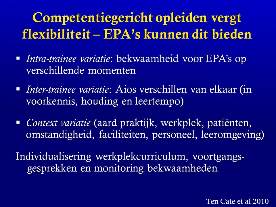 Competentiegericht opleiden vergt flexibiliteit – EPA's kunnen dit bieden