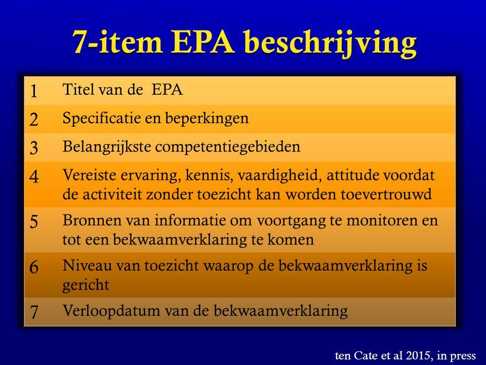 7-item EPA beschrijving