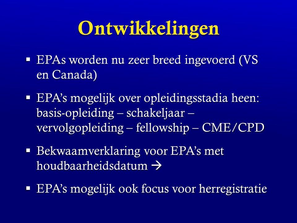 Ontwikkelingen EPAs worden nu zeer breed ingevoerd (VS en Canada)
