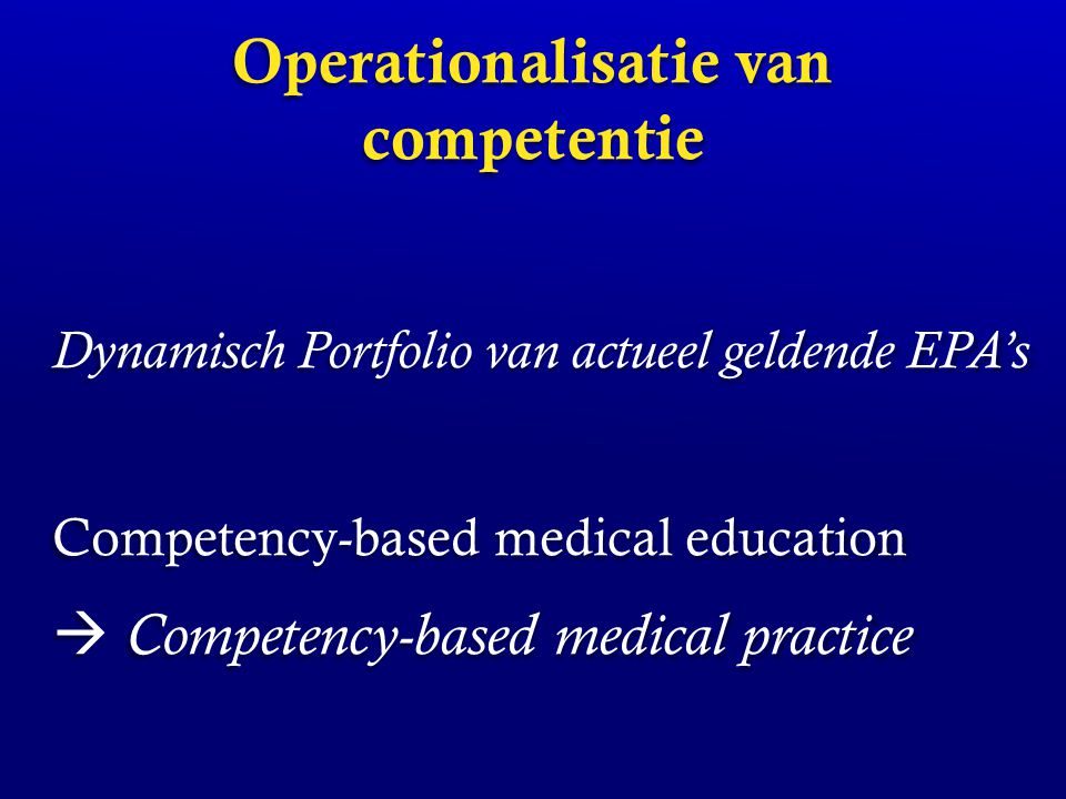 Operationalisatie van competentie