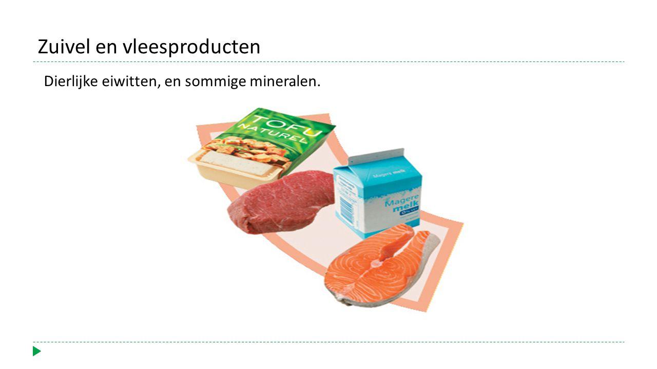 Zuivel en vleesproducten