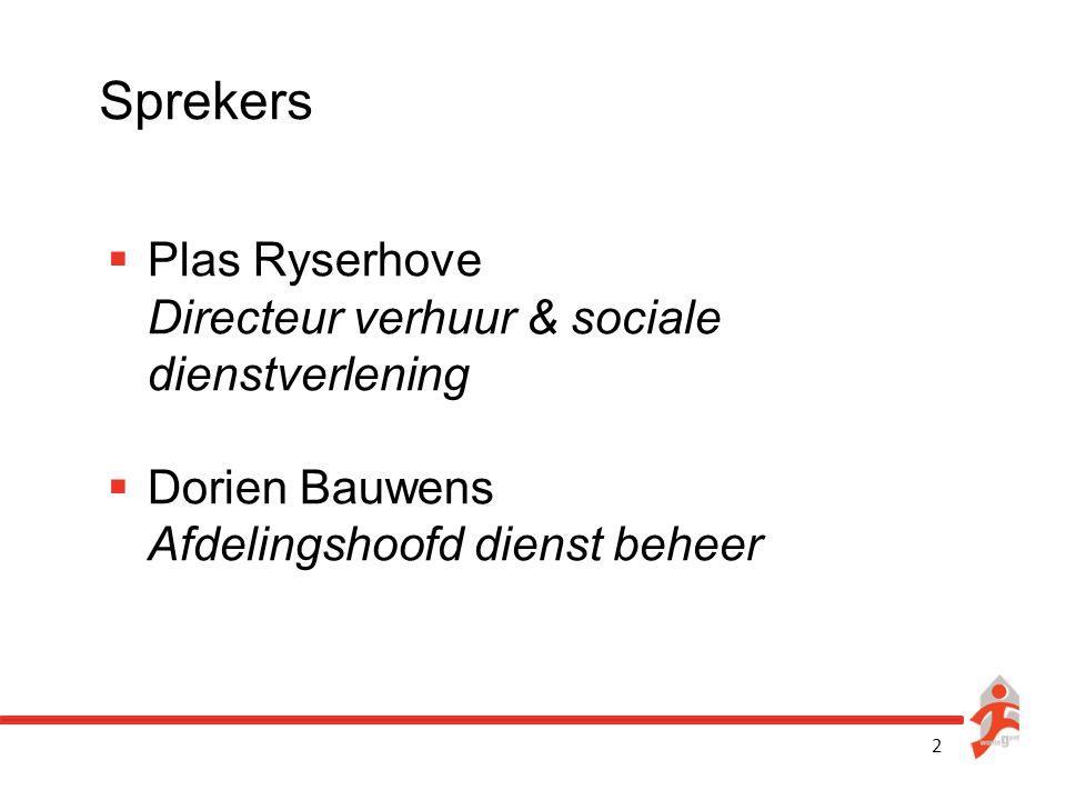 Sprekers Plas Ryserhove Directeur verhuur & sociale dienstverlening