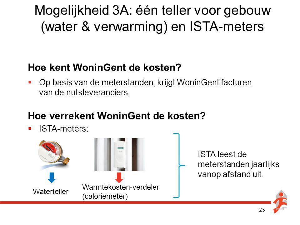Mogelijkheid 3A: één teller voor gebouw (water & verwarming) en ISTA-meters