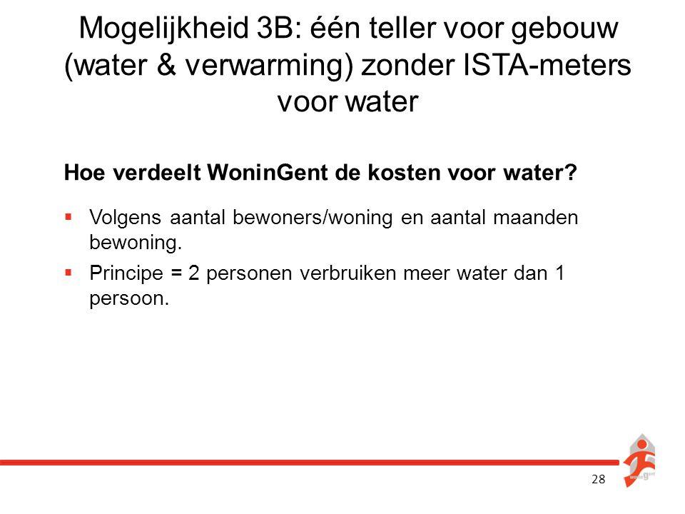 Mogelijkheid 3B: één teller voor gebouw (water & verwarming) zonder ISTA-meters voor water