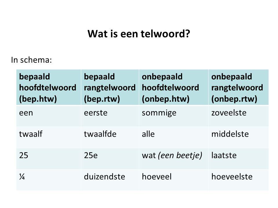 Wat is een telwoord In schema: bepaald hoofdtelwoord (bep.htw)