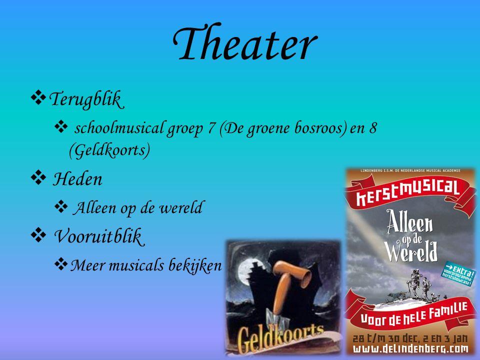 Theater Terugblik Heden Vooruitblik
