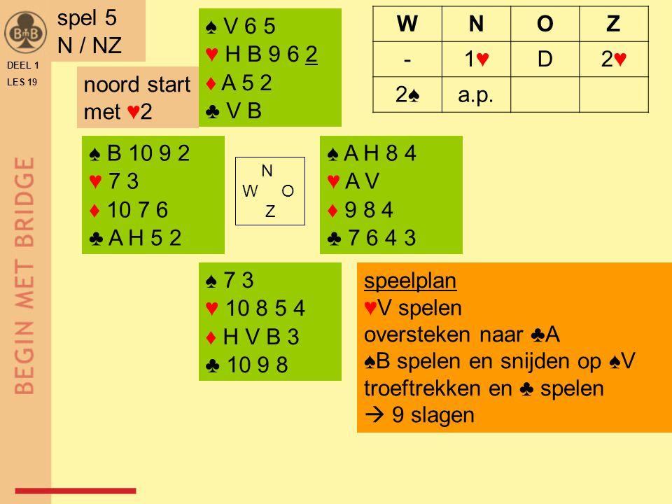 ♠B spelen en snijden op ♠V troeftrekken en ♣ spelen  9 slagen