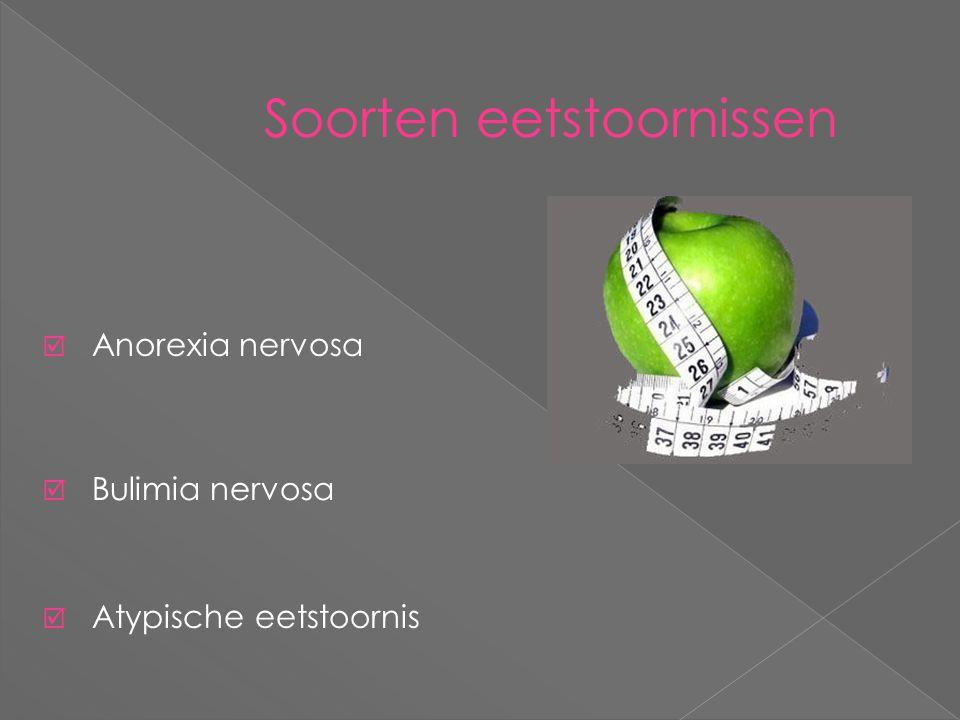 Soorten eetstoornissen