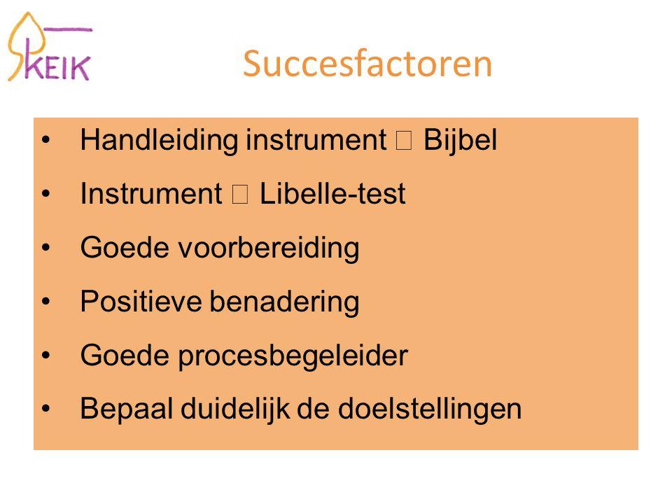 Succesfactoren Handleiding instrument  Bijbel