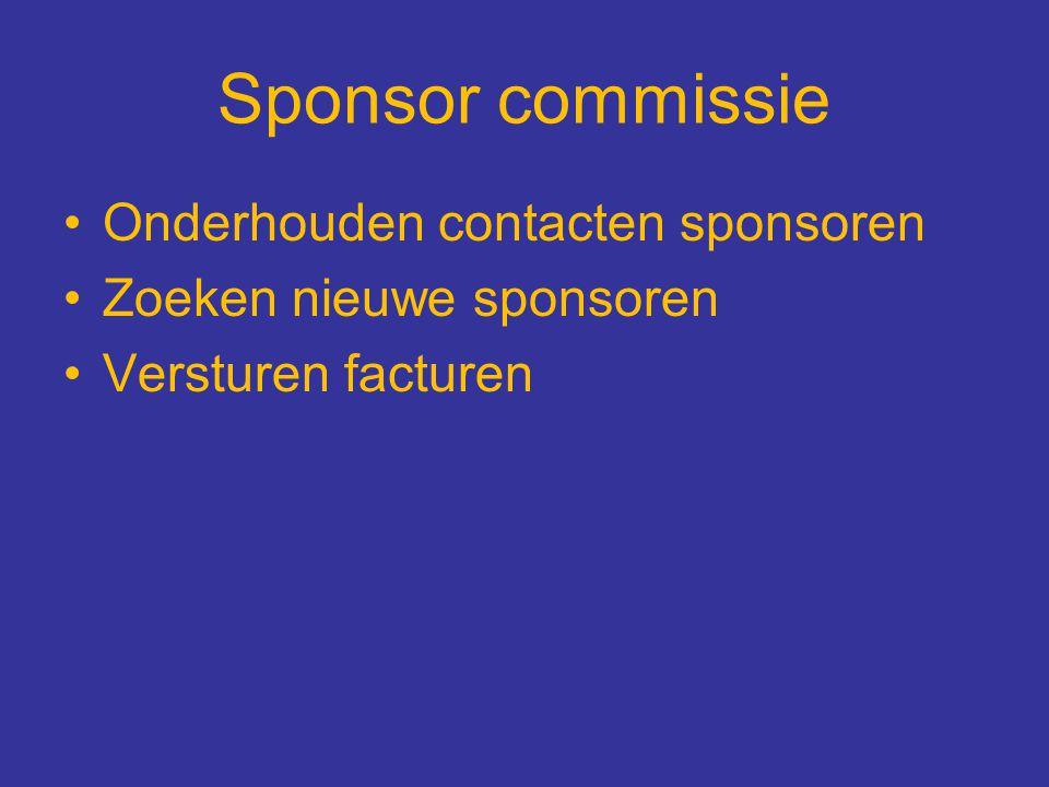 Sponsor commissie Onderhouden contacten sponsoren