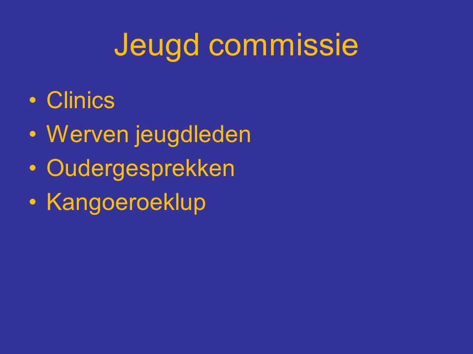 Jeugd commissie Clinics Werven jeugdleden Oudergesprekken
