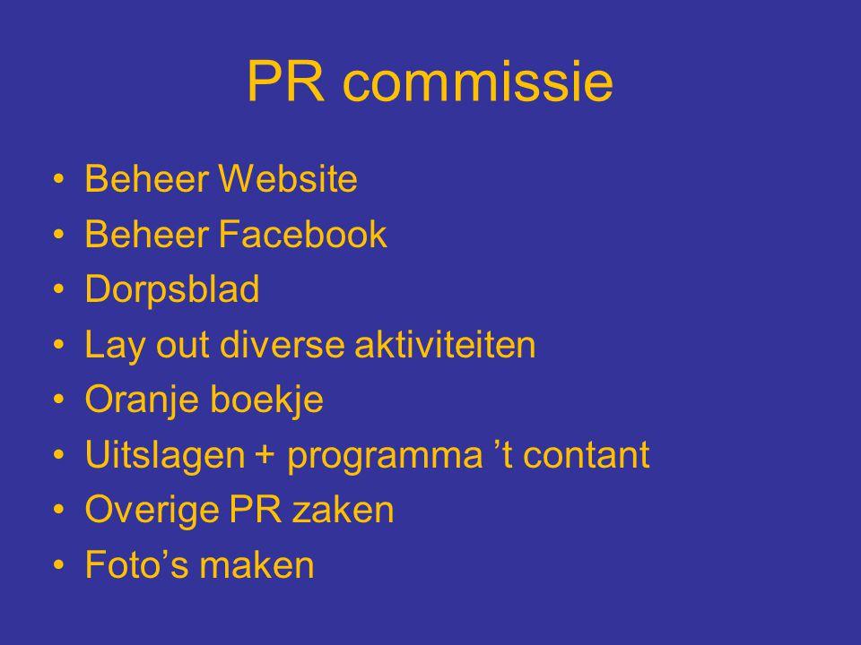 PR commissie Beheer Website Beheer Facebook Dorpsblad