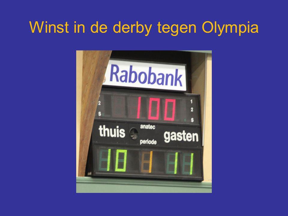 Winst in de derby tegen Olympia