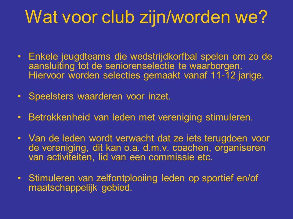 Wat voor club zijn/worden we