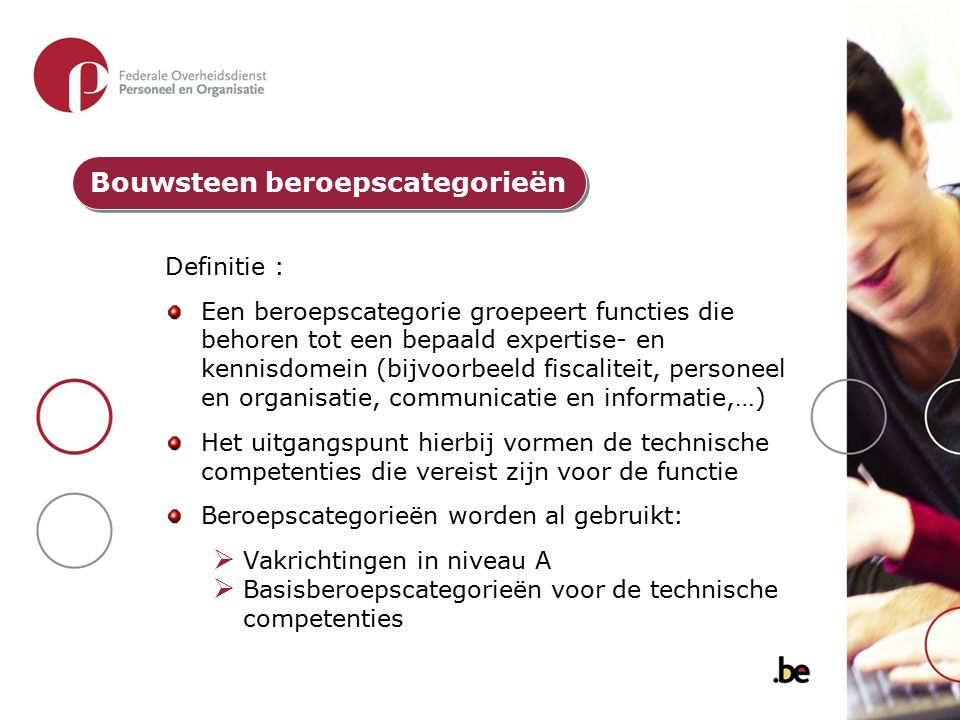 Bouwsteen beroepscategorieën