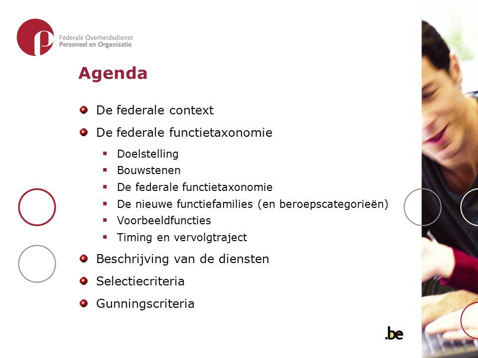 Agenda De federale context De federale functietaxonomie