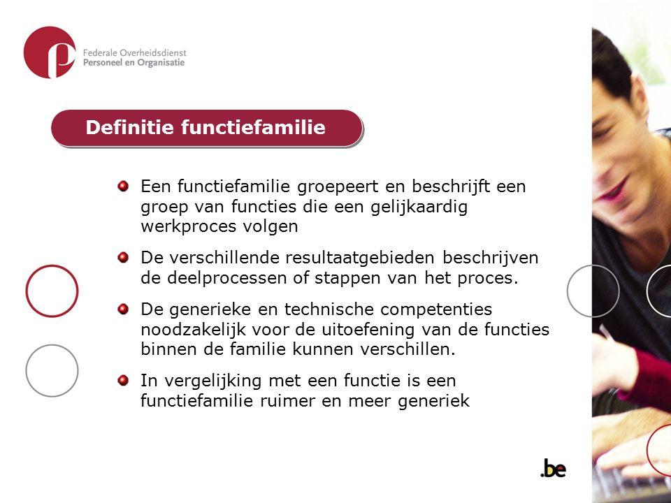 Definitie functiefamilie