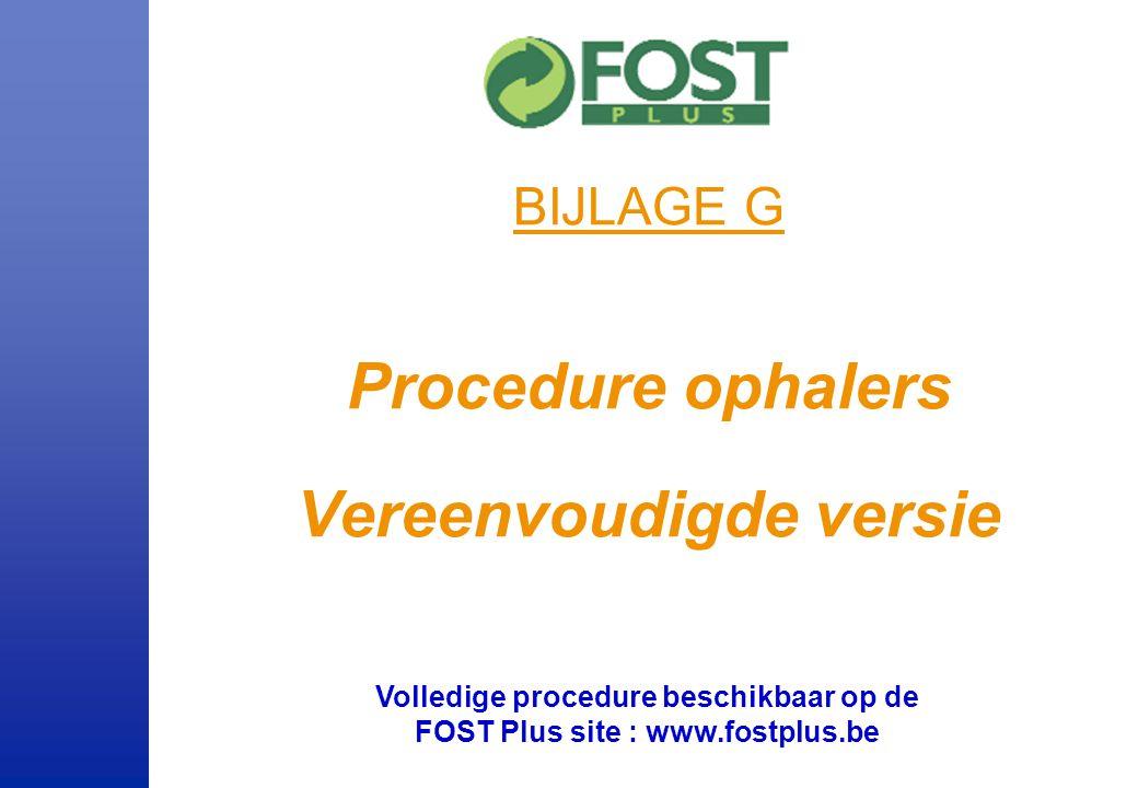 Inhoud Algemene voorstelling van de procedures