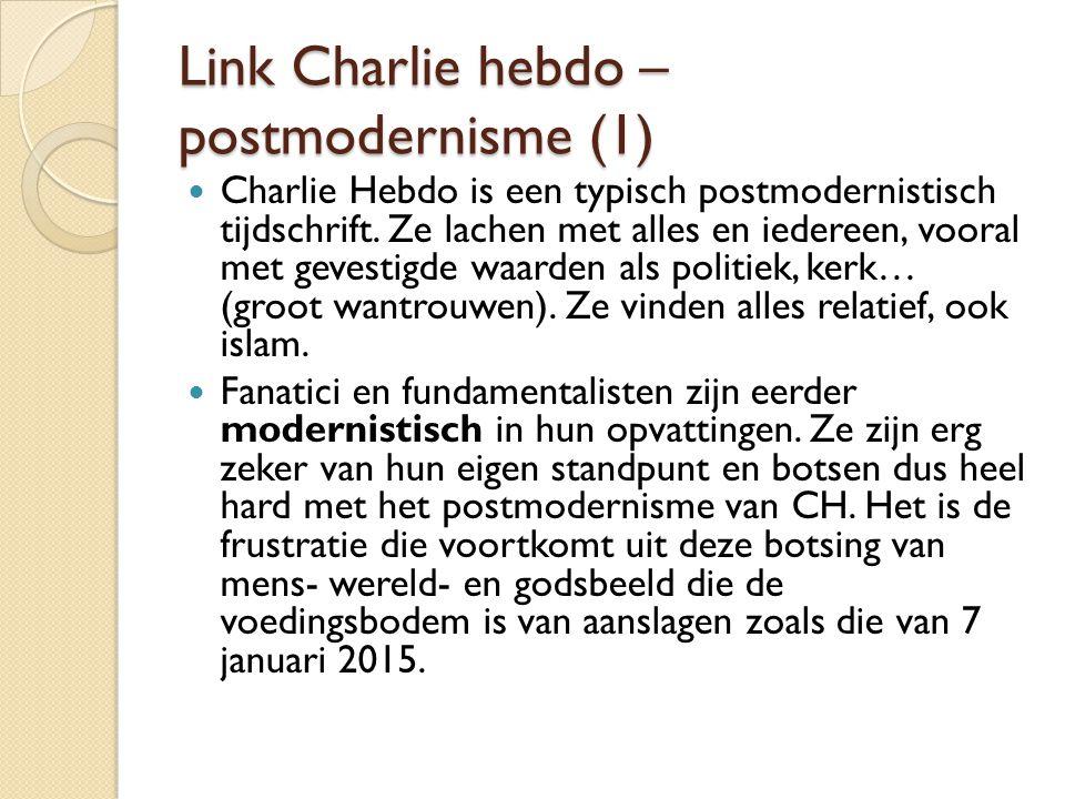 Link Charlie hebdo – postmodernisme (1)