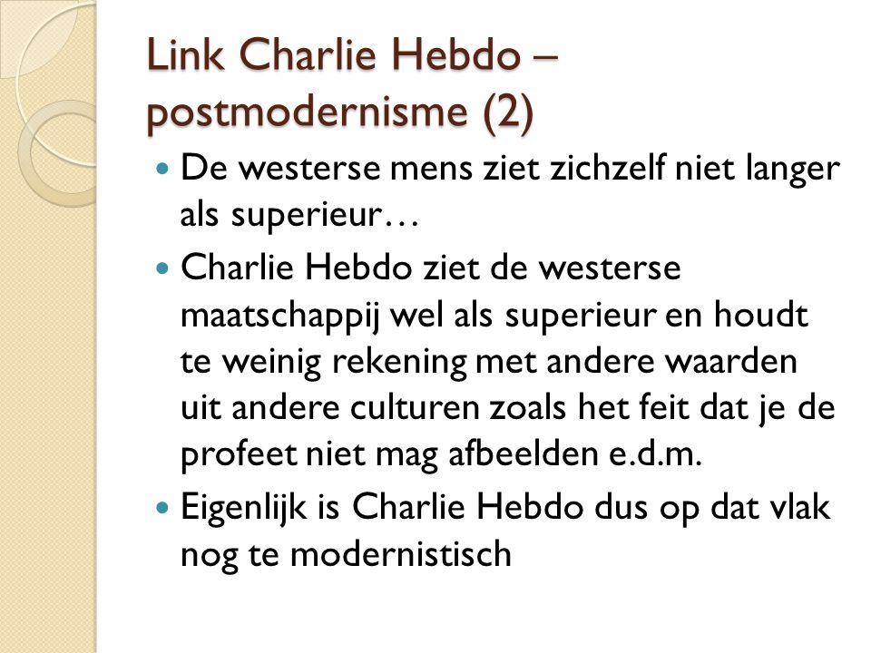 Link Charlie Hebdo – postmodernisme (2)