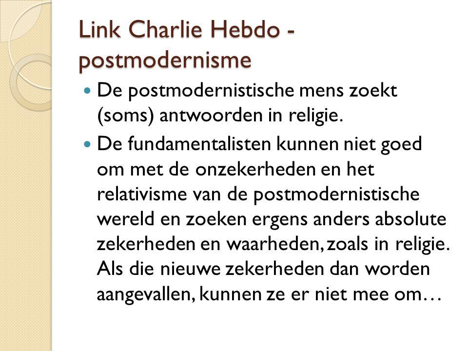 Link Charlie Hebdo - postmodernisme