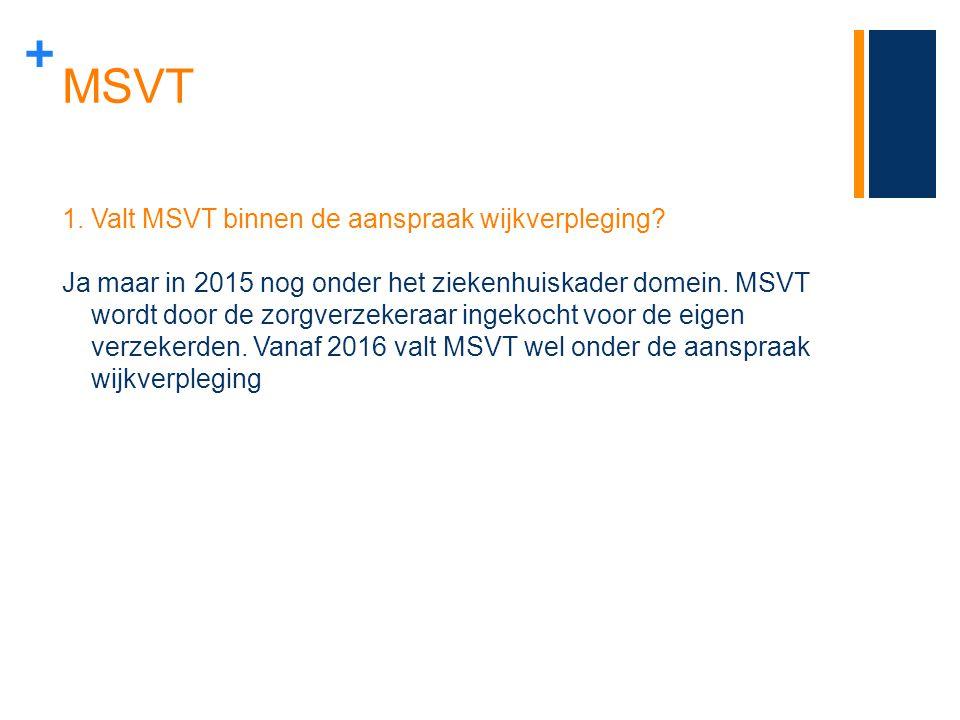 MSVT Valt MSVT binnen de aanspraak wijkverpleging