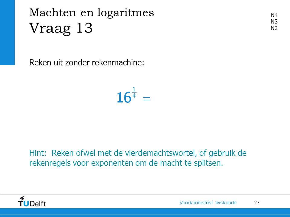 Machten en logaritmes Vraag 13