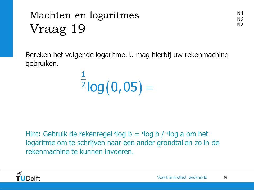 Machten en logaritmes Vraag 19