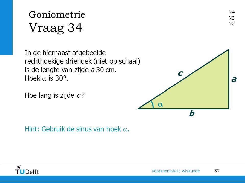 Goniometrie Vraag 34 c a  b