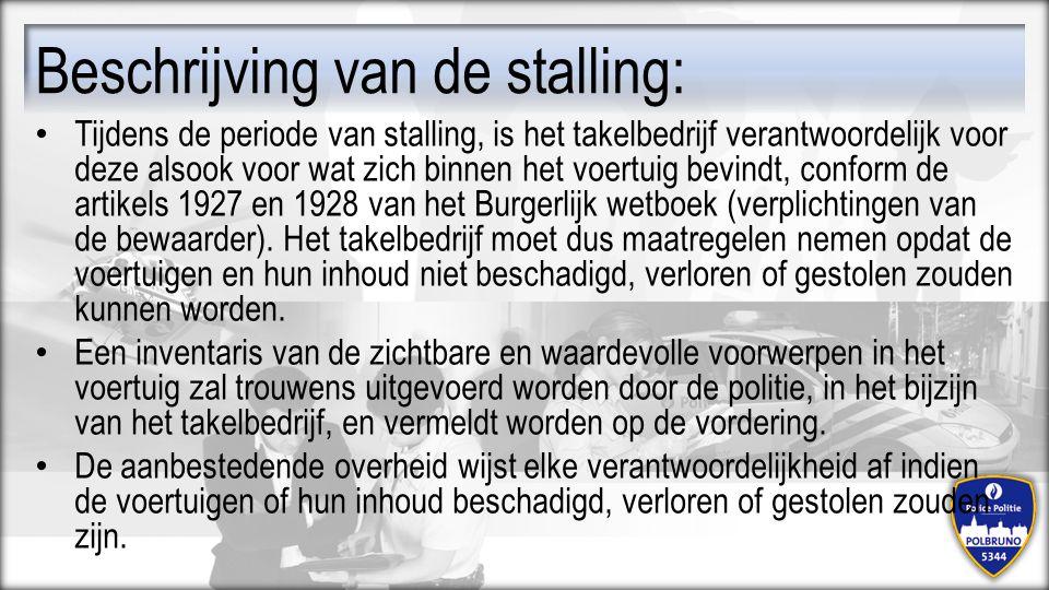 Beschrijving van de stalling: