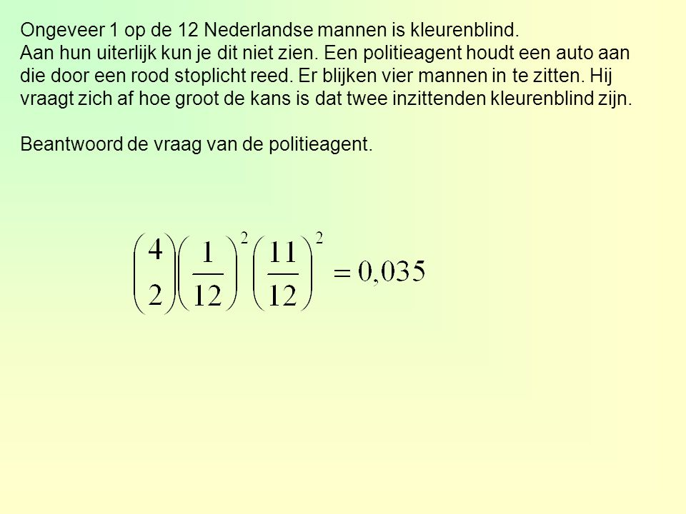 Ongeveer 1 op de 12 Nederlandse mannen is kleurenblind.