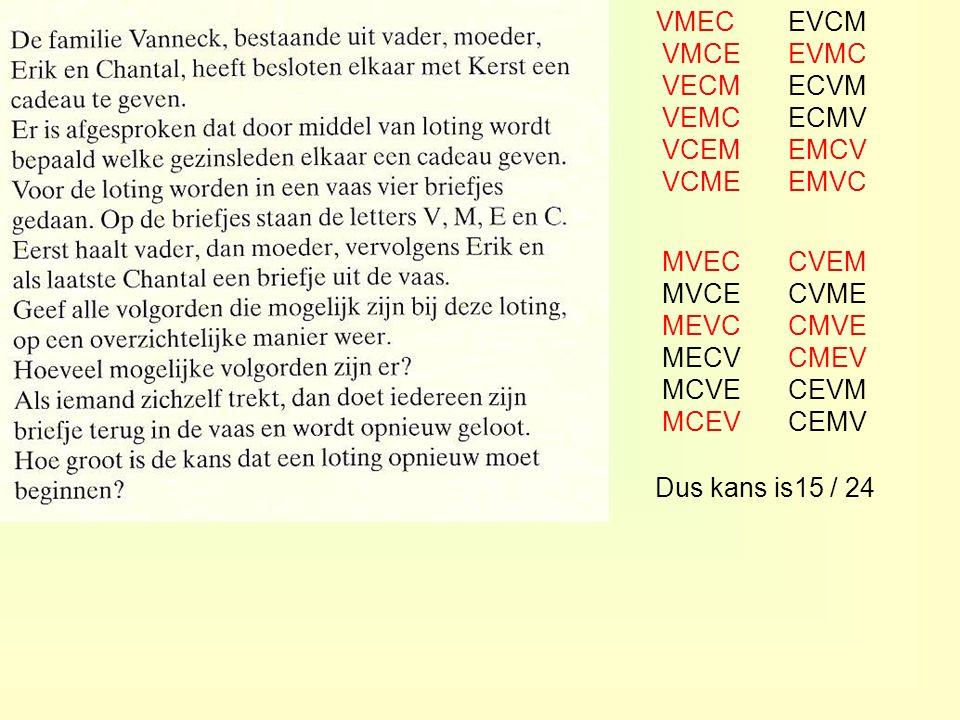 VMEC VMCE VECM VEMC VCEM VCME